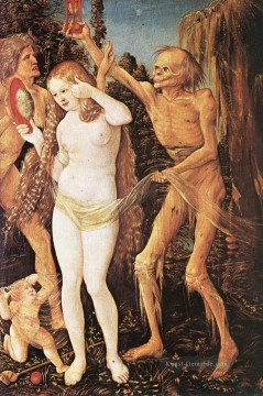 Hans Baldung Gemälde - Three Ages Of The Woman And The Death Renaissance Nacktheit maler Hans Baldung