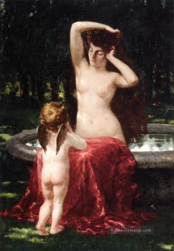 James Ölgemälde - Sylvan Toilette impressionistischen James Carroll Beckwith