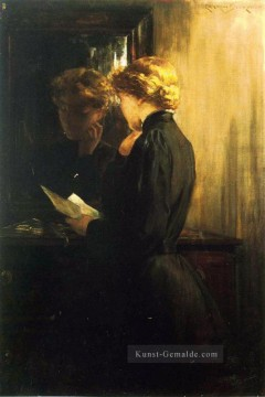 AR Ölgemälde - The Letter impressionistischen James Carroll Beckwith