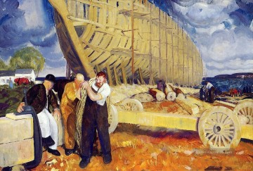 Builders of Ships George Wesley Bellows Ölgemälde