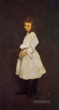 Little Mädchen in White aka Queenie Barnett Realist Ashcan Schule George Wesley Bellows Ölgemälde