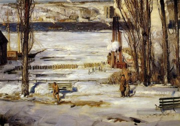 Bellows Kunst - ein Morgen Schnee Realist Landschaft George Wesley Bellows