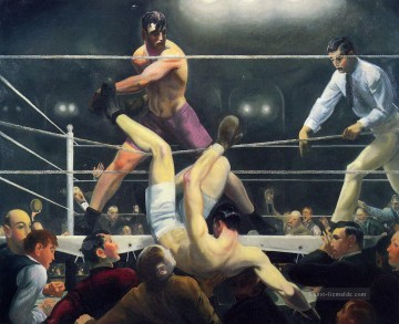 Bellows Kunst - Dempsey und Firpo 1924 George Wesley Bellows
