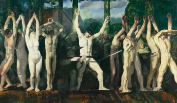 der Barricade George Wesley Bellows Ölgemälde