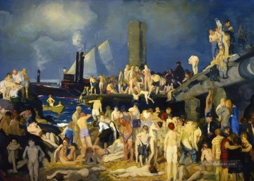 Niet Front 1 1915 George Wesley Bellows in Ölgemälde