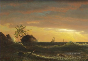 BEACHED SHIP Amerikaner Albert Bierstadt Ölgemälde