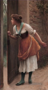 von The Eavesdropper lady Eugene de Blaas
