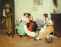 The Friendly Gossips lady Eugene de Blaas