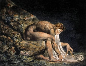 William Blake Werke - Isaac Newton Romantik romantische Age William Blake