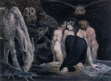 romantische romantik Ölbilder verkaufen - Hecate Or The Three Fates Romantik romantische Age William Blake