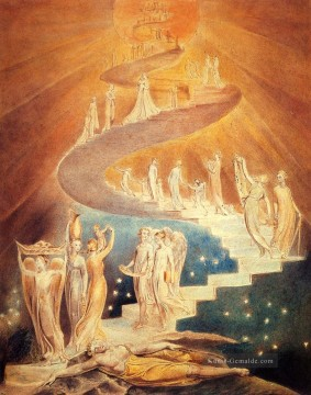 romantische romantik Ölbilder verkaufen - Jacobs Ladder Romantik romantische Age William Blake