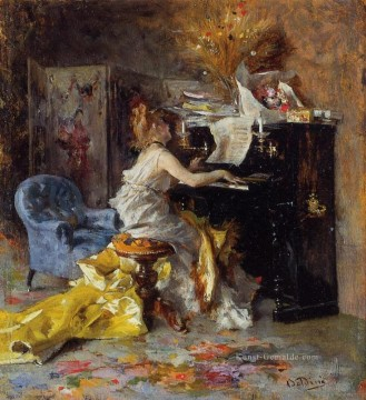 Woman at a Piano genre Giovanni Boldini