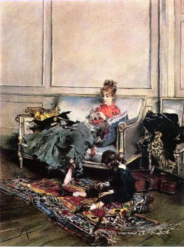 Friedliche Tage aka The Music Lesson genre Giovanni Boldini Ölgemälde