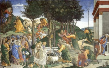 Scenes from the Life of Moses Sandro Botticelli Ölgemälde
