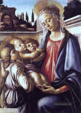 Madonna And Child And Two Angels Sandro Botticelli Ölgemälde