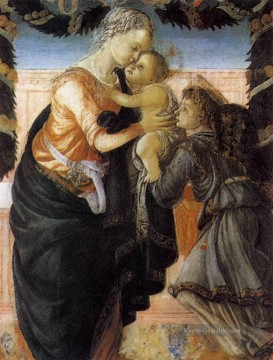 Sandro Botticelli Gemälde - Madonna And Child With An Angel 2 Sandro Botticelli