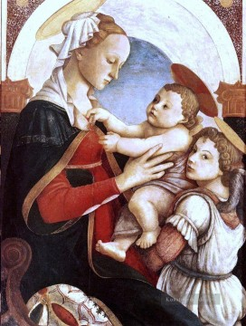 Sandro Botticelli Gemälde - Madonna And Child With An Angel Sandro Botticelli