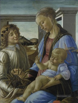 Sandro Botticelli Gemälde - Madonna and child with a angel Sandro Botticelli