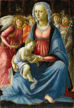 Sandro Botticelli Gemälde - Sandro The Virgin with the child and five angels Sandro Botticelli