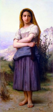 Berg Malerei - Bergere 1886 Realismus William Adolphe Bouguereau