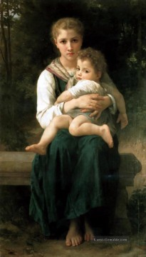 William Adolphe Bouguereau Werke - Brother and Sister Realismus William Adolphe Bouguereau
