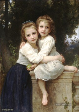William Adolphe Bouguereau Werke - Deux soeurs Realismus William Adolphe Bouguereau