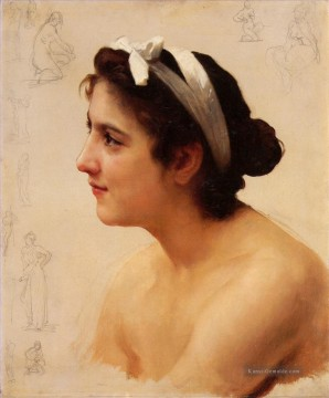 William Adolphe Bouguereau Werke - Etude dune femme pour Offrande a lAmour Realismus William Adolphe Bouguereau