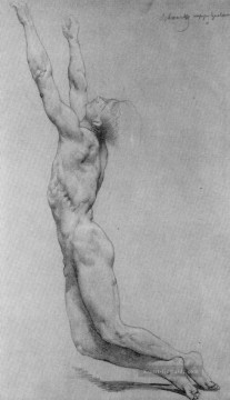 William Adolphe Bouguereau Werke - Flagellation of Christ study in pencil Realismus William Adolphe Bouguereau