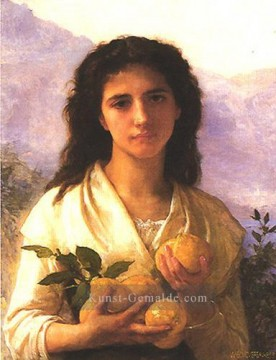 William Adolphe Bouguereau Werke - Girl Holding Lemons 1899 Realismus William Adolphe Bouguereau