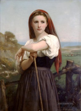 Berg Malerei - Jeune Bergere 1868 Realismus William Adolphe Bouguereau
