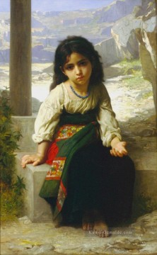 William Adolphe Bouguereau Werke - La Petite Mendiante Realismus William Adolphe Bouguereau
