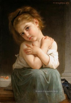 Hill Kunst - La frileuse Chilly Mädchen 1879 Realismus William Adolphe Bouguereau
