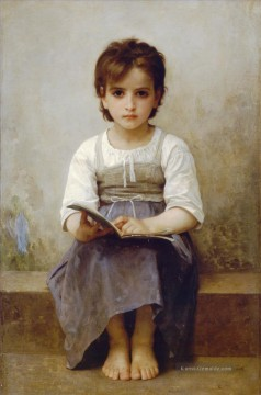 William Adolphe Bouguereau Werke - La lecon difficile Realismus William Adolphe Bouguereau
