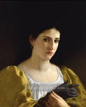 William Adolphe Bouguereau Werke - Lady with Glove 1870 Realismus William Adolphe Bouguereau