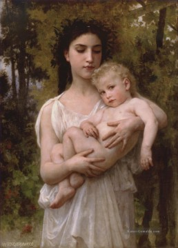 William Adolphe Bouguereau Werke - Le jeune frere 1900 Realismus William Adolphe Bouguereau