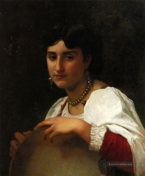 William Adolphe Bouguereau Werke - Litalienne au tambourin Realismus William Adolphe Bouguereau