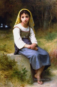 William Adolphe Bouguereau Werke - Meditation 1885 Realismus William Adolphe Bouguereau