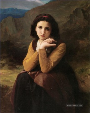 William Adolphe Bouguereau Werke - Mignon Pensive Realismus William Adolphe Bouguereau