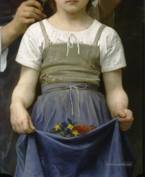 William Adolphe Bouguereau Werke - Parure des champs bt right Realismus William Adolphe Bouguereau