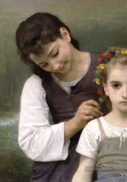 William Adolphe Bouguereau Werke - Parure des champs left Realismus William Adolphe Bouguereau