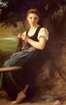 Das Stricken Mädchen Realismus William Adolphe Bouguereau
