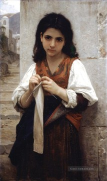William Adolphe Bouguereau Werke - Tricoteuse 1879 Realismus William Adolphe Bouguereau