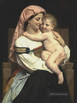 William Adolphe Bouguereau Werke - Femme de Cervara et Son Enfant 1861 Realismus William Adolphe Bouguereau