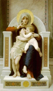 William Adolphe Bouguereau Werke - La Vierge LEnfant Jesus et Saint Jean Baptiste Realismus William Adolphe Bouguereau