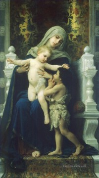 William Adolphe Bouguereau Werke - La Vierge LEnfant Jesus et Saint Jean Baptiste2 Realismus William Adolphe Bouguereau