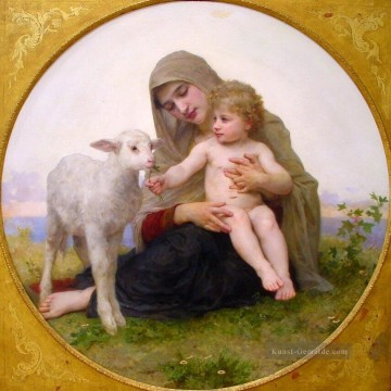 William Adolphe Bouguereau Werke - La Vierge a Lagneau Realismus William Adolphe Bouguereau