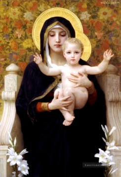 William Adolphe Bouguereau Werke - La Vierge au lys Realismus William Adolphe Bouguereau