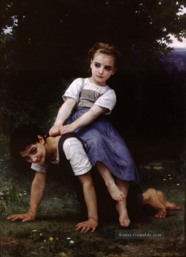 William Adolphe Bouguereau Werke - La bourrique oil on canvas Realismus William Adolphe Bouguereau