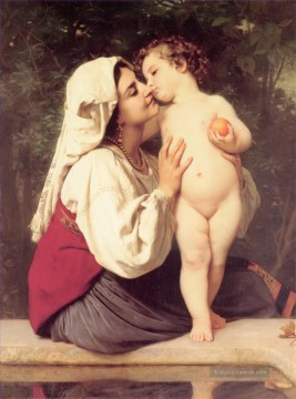 William Adolphe Bouguereau Werke - Le Baiser 1863 Realismus William Adolphe Bouguereau