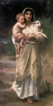 William Adolphe Bouguereau Werke - Le Jeune Bergere 1897 Realismus William Adolphe Bouguereau